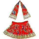 Aditri Creation Orange Laxmi Durga Devi MATA Dress poshak vastra Cloth lehanga Chunari Puja Item for Idol Statues