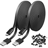 2 Pack 20FT Power Extension Cable Compatible with WyzeCam, Wyze Cam Pan, NestCam Indoor,Blink, Yi Camera,Amazon Cloud Camera,