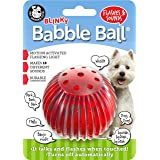 Pet Qwerks Blinky Babble Ball Interactive Dog Toys - Flashing Motion Activated Electronic Talking Ball, Treat Toy That Lights