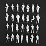 Fashionclubs 1:50 Scale Model People Unpainted Figures 100 Pieces Model Trains Architectural O Scale Standing and Sitting Lit