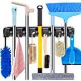HYRIXDIRECT Mop and Broom Holder Wall Mount Heavy Duty Broom Holder Wall Mounted Broom Organizer Home Garden Garage Storage R