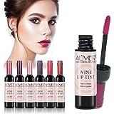 6 Colors/Set Wine Lipstick Matte Long Lasting Waterproof Lip Tint Set Lip Gloss Lip Stain