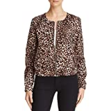 Guess Women's Leopard-Print Bomber Jacket