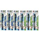 3Pacs X Tombow Fudenosuke Brush Pen/Soft Type & Hard Type (Each 3 Pens) / Total 6 Pens Set (Original Version)