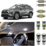 AUTOGINE Super Bright 6000K White LED Interior Light Bulbs Kit Package for 2016 2017 2018 2019 Toyota RAV4 + Install