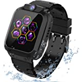 """Kids Smartwatch GPS Tracker Phone - 2019 New Waterproof Children Smart Watches with 1.4"""" Touch Screen SOS Phone Call Talkie W"""