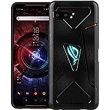 Foluu ROG Phone II ケース クリアケース 6.59インチ 落下防止 耐衝撃 軽量 TPUケース おしゃれ 保護カバー (黒)