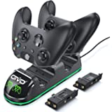 OIVO Controller Charger Compatible with Xbox One/S/ X/Elite, Dual Controller Charging Dock Station, Remote Charger with 2PACK