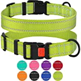 CollarDirect Reflective Dog Collar,SafetyNylon Collars for Dogs with Buckle,Outdoor Adjustable Puppy Collar Small Medium L
