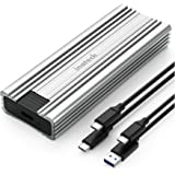 Inateck M.2 NVMe Enclosure, USB 3.2 Gen 2 with 10Gbps Transmission, M.2 SATA and NVMe SSD Supported (2242, 2260, 2280) with U