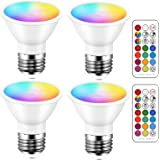iLC LED E27 Colour Changing Lamp, LED Spotlights Bulb, 3 W Dimmable Warm White (2700 K) RGB LED Bulb, Replaces Bulb with 20 W