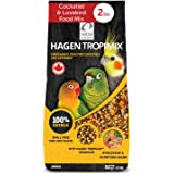 HARI Tropimix Bird Food for Cockatiels & Lovebirds, Hagen Parrot Food with Seeds, Fruit, Vegetables, Grains, Vitamins & Amino