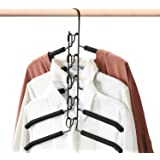 HOUSE DAY Magic Hangers 4 Pack Multilayer Anti-Slip Clothes Rack Space Saving Clothes Hangers 5 in 1 Multifunctional Adult Cl