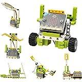 Elecfreaks microbit Ring:bit 6-in-1 Building Bricks Kit, Programmable STEM Educational Learning Kit with 200+ Building Blocks