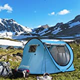 ZOMAKE Pop Up Tent 2 Person, Beach Tent Sun Shelter for Baby with UV Protection, Automatic and Instant Setup Tent for Family