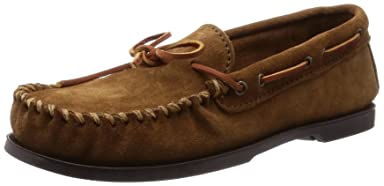 Minnetonka Camp Moc: 747 Dusty Brown Suede