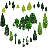 OrgMemory 29pcs Mixed Model Trees 1.5-6 inch(4 -16 cm), Ho Scale Trees, Diorama Supplies, Model Train Scenery,  Trees for Pro