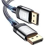 8K Display Port Cable 1M [8K@60Hz / 4K@144Hz / 2K@165Hz] , Sweguard Displayport 1.4 Cable 32.4Gbps High Speed Braided Display