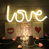 "Neon Love Signs Light 13.70"" Large LED Love Art Decorative Marquee Sign - Wall Decor/Table Decor for Wedding party Kids Room"