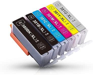 BCI-381+BCI-380 XL キヤノン互換インクカートリッジ 增量6色セット Canon PIXUS TS8130 TS8230 TS8330