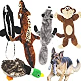 Jalousie 5 Pack Dog Squeaky Toys Low Stuffing Plush for Small Medium Large Dog Pets