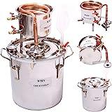 AU_TRULYSTEP DIY Home 10 L Liters Distiller Moonshine Still Boiler Copper Cooler Thermometer Wine Spirits Essential Oil Water
