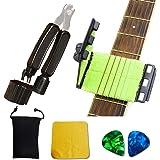 SPROUTER Guitar Fretboard Cleaner Guitar String Scrubber, 3 in 1 Guitar Repair Tools with Peg winder, Bridge Pin Puller, Stri