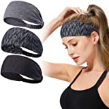 Headbands for Women,Tersely 3 Pack Women Sport Workout Yoga Headband Non Slip Lightweight Soft Wicking Stretchy Multi Style B
