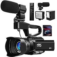 ビデオカメラ4K ビデオカメラ ウルトラHD 48MPYouTube 30XデジタルズームIRナイトビジョンビデオカメラ…
