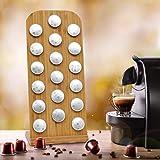 Eco-Friendly Bamboo Nespresso Capsules Pod Holder for 18 Nespresso Original Capsules by Podzania, an Ideal Coffee Storage Con