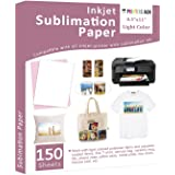 Sublimation Paper - 8.5 x 11 Inches, 150 Sheets for Any Inkjet Printer with Sublimation Ink, Heat Transfer Sublimation for T-