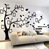 Unitendo 3D Wall Stickers Photo Frames FamilyTree Wall Decal Easy to Install &Apply DIY Photo Gallery Frame Decor Sticker Hom