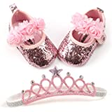 BENHERO Baby Infant Girls Soft Sole Floral Princess Mary Jane Shoes Prewalker. US