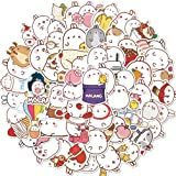 Cute Molang Rabbit Stickers for Water Bottles Lovely Cartoon Laptop Hydroflasks Phone Notebook Scrapbook Bike Luggage Snowboa