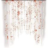 TOPSER Party Supplies Door Curtain Decoration with Bloody Hand Prints Bloody Doorway Curtain Creepy Cloth Haunted House Horro