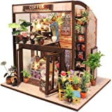 DIY Dollhouse Miniature Kit with Furniture, Wooden Mini Miniature Dollhouse Kits, Casa Miniatura Dolls House Plus Dust Proof