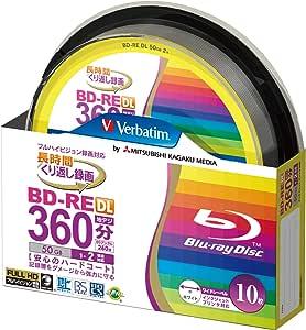 Verbatim バーベイタム くり返し録画用 ブルーレイディスク BD-RE DL 50GB 10枚 ホワイトプリンタブル 片面2層 1-2倍速 VBE260NP10SV1 [並行輸入品]
