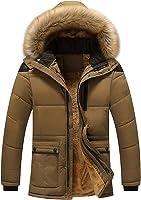 【在庫処分】 [ゴスファング] ダウンジャケット カジュアル フード ボア ポケット 裏起毛 防寒 暖かい L ~ XL メンズ