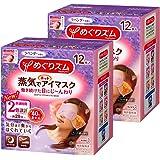 【まとめ買い】めぐりズム蒸気でホットアイマスク ラベンダー 12枚入×2