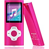 Mymahdi MP3/MP4 Portable Player,1.8 Inch LCD Screen,Max Support 64GB,Pink