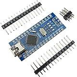 KKHMF Mini USB Nano V3.0 ATmega328P CH340G 5V 16M マイクロコントローラーボード モジュールArduinoと互換