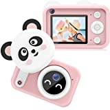 Bright Platinum Kids Camera, 1080P HD Selfie Dual Video Cameras for Toddler, Birthday Gifts for Girl, Portable Toy for 4~13 Y