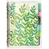 A5 6-Ring Loose Leaf Binder Journal from Chris.W, w/ 80 Insert Pages(Dot Grid/Square Grid/Ruled/Blank) + 6 Index Divider Tabs