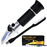 Brix Refractometer with ATC, Range 0-32% Brix with 0.2% Division, for Brandy, Beer, Fruits, Cutting Liquid, with Extra LED Li