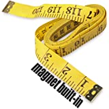 Ehdis 120 Inch 3 Meter Soft Tape Measure with Magnetic Tip, Flexible Magnetic Measure Tape for Auto Vinyl Wrap Measuring Tail