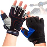 WindRider Pro Sailing Gloves - 3/4 or Full Finger - Padded Palm and Amara Reinforcement - Mesh Back for Comfort - Perfect for