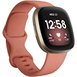 Fitbit Versa 3 Advanced Fitness Watch with Built-in GPS, Personalised Heart Rate Zones, Voice Control and Speaker for Connect