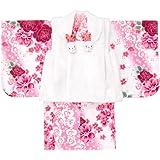 [京のみやび]女の子ベビー着物 ボア被布セット ポリエステル 1才(80cm-90cm) 中国製