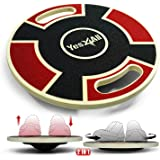 Yes4All Wooden Wobble Balance Board - Round Balance Board/Stability Board for Physical Therapy, Home Gyms