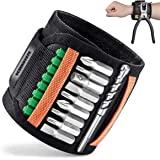 UCIN Magnetic Wristband with 2 Pockets and Powerful Strong Magnets -Tool Belt for Holding Screws, Nails, Drill Bits, Gadgets